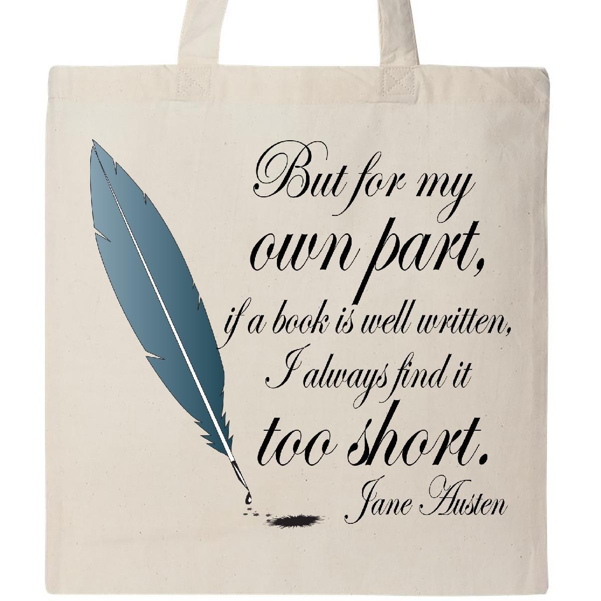 ジェインオースティンInktastic Book Quoteトートバッグ One Size 4331345368 B01515PZR6  ナチュラル