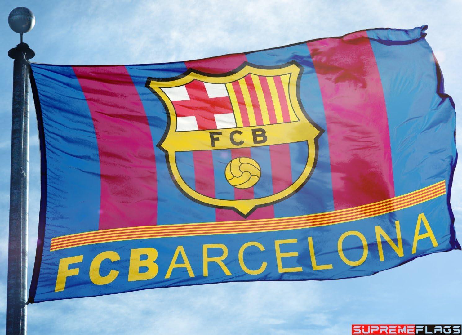 Bandera del FC Barcelona 3 x 5 pies Catalanes España Fútbol Espanol Bandera: Amazon.es: Deportes y aire libre