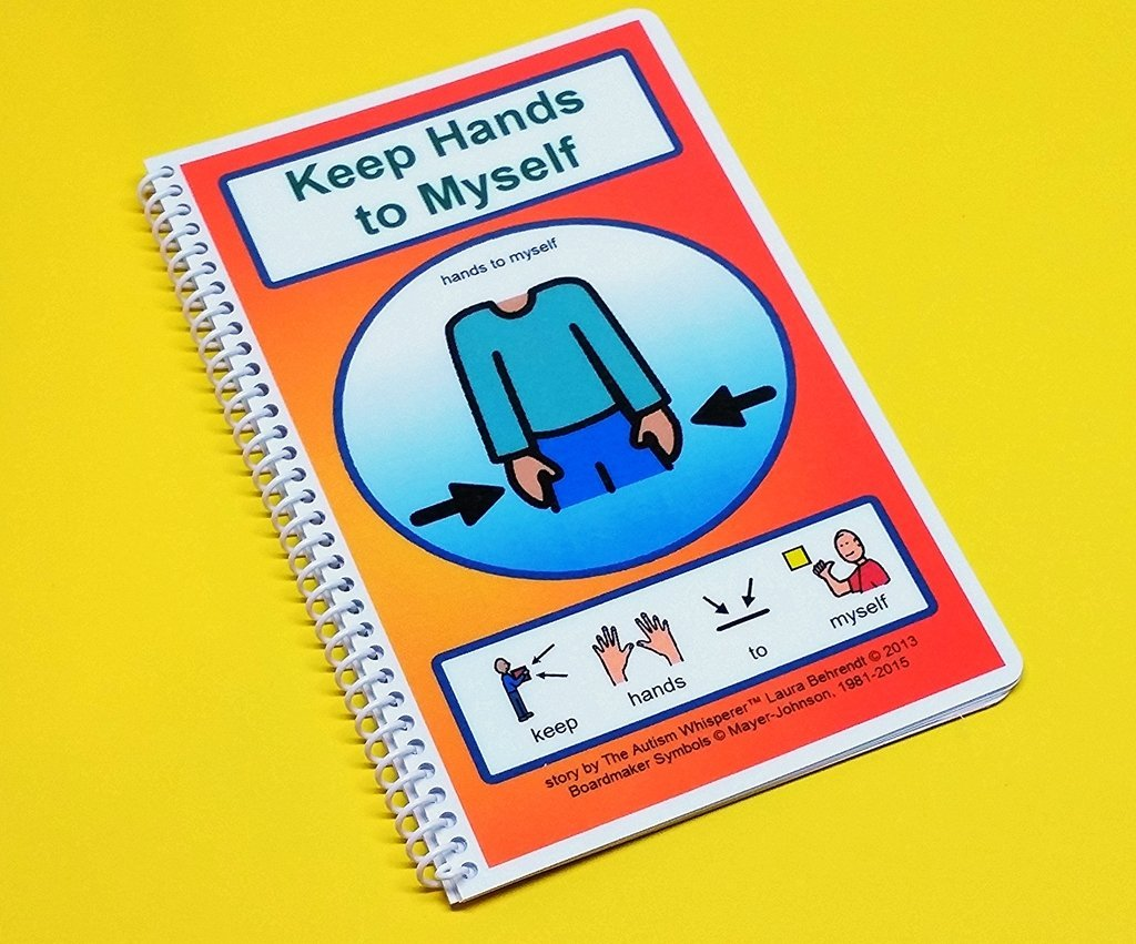 Keep Hands to Myself - Autism PECS Social Skills Story - Visual and Social Therapy Book