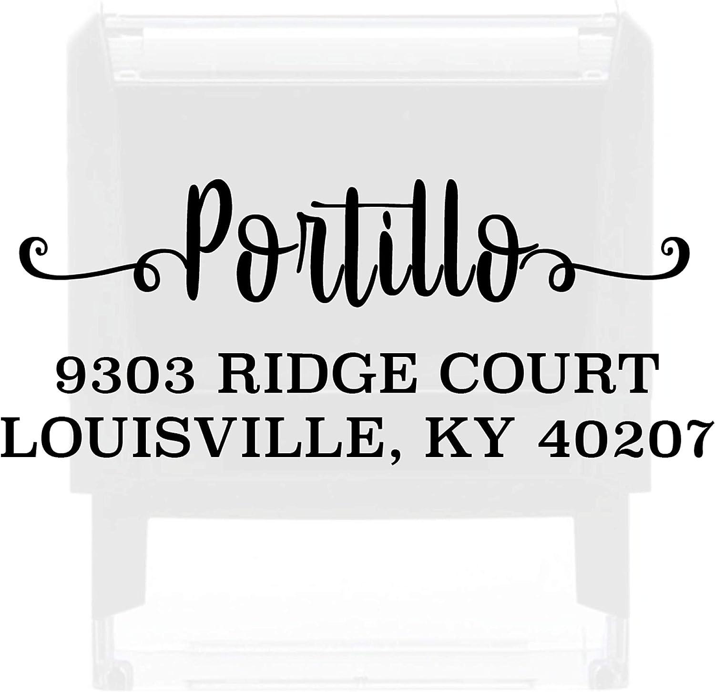 Custom Address Stamp Personalized Self Inking Stamps Custom Return Address Stamper Wedding Favor Stamp Rubber Stamper (Green)
