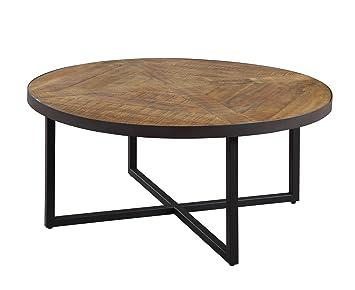 Amazoncom Emerald Home Denton Antique Pine Coffee Table with Round