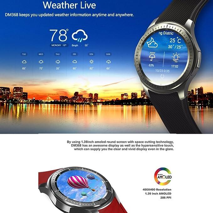 TECKEY DM368 Multi-idioma Bluetooth Reloj Inteligente ...