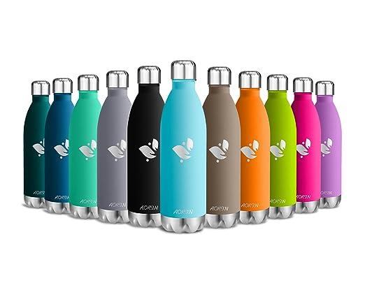 137 opinioni per Aorin 17 once doppia parete in acciaio inox coibentato bottiglia di acqua,