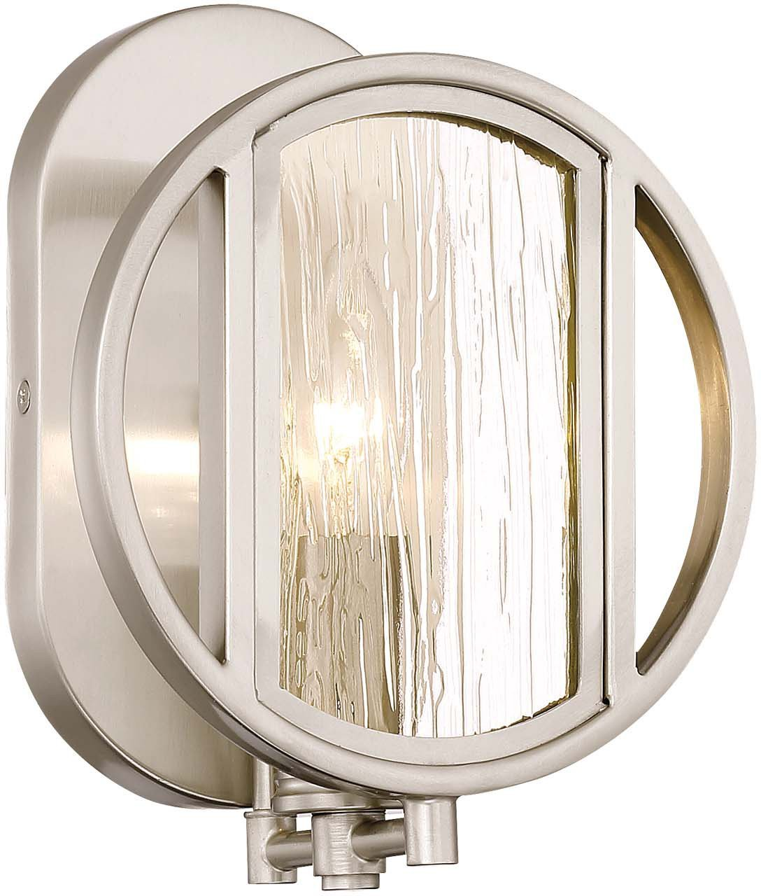 Minka Lavery Wall Sconce Lighting 3061-84 Via Capri Wall Lamp Fixture, 1-Light 60 Watts, Brushed Nickel