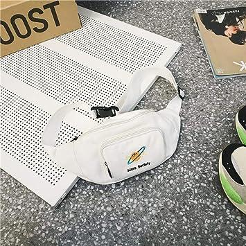 QQOPI Casual Fanny Pack Mujer Gran Capacidad Cintura Bolsa Paquete Streetwear Cinturón Bolsa Multifunción Cofre Bolsa Teléfono Bolsa Monedero, Blanco: Amazon.es: Deportes y aire libre