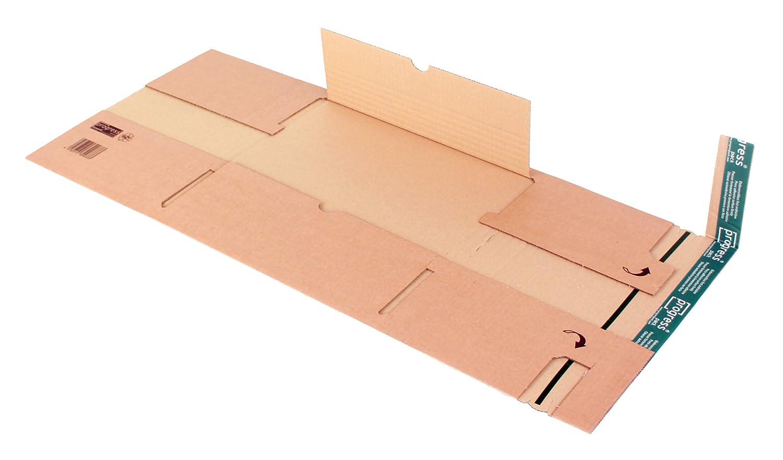 progressPACK PP B03.06 Premium Lot de 20 emballages d'expédition universels en carton ondulé double paroi Marron DIN B4 360 x 265 x à 95 mm