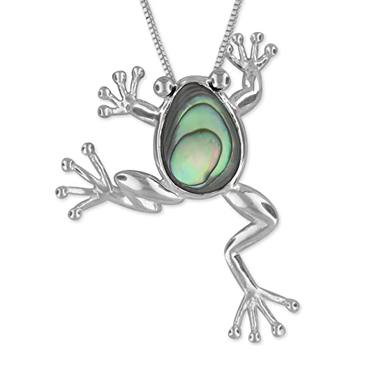 Amazon sterling silver abalone shell lucky frog pendant sterling silver abalone shell lucky frog pendant necklace 182quot extender mozeypictures Image collections