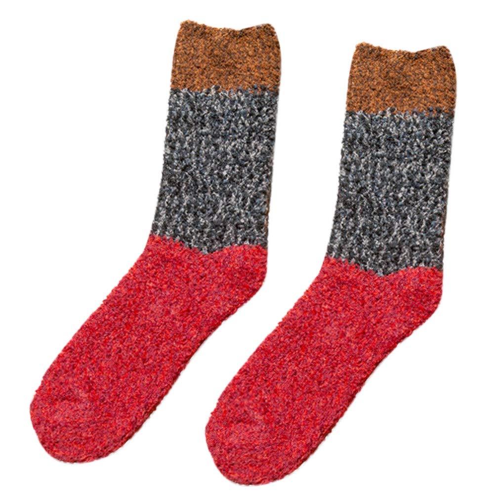 AKwell Women Socks Autumn Winter Warm Coral Velvet Floor Socks Thicker Anti-Slip Coral Fleece Socks