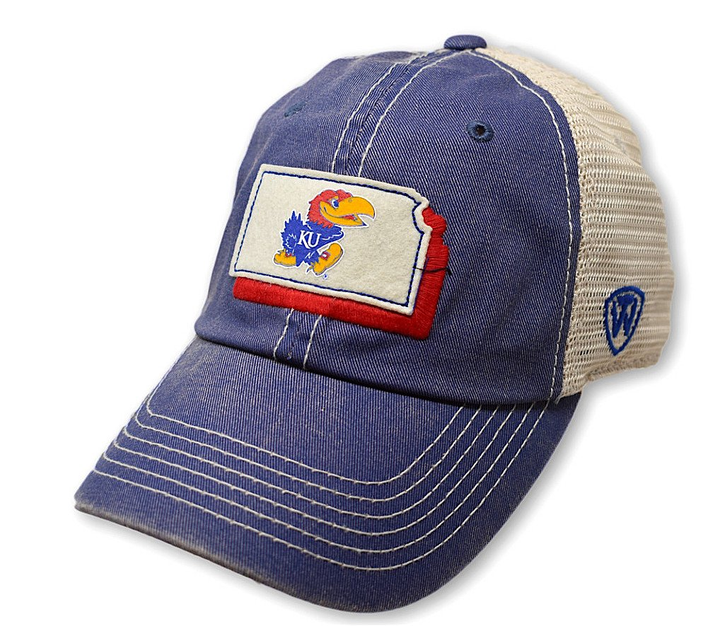 Top of the World Kansas Jayhawks Men's Mesh-Back Hat Icon, Royal, Adjustable