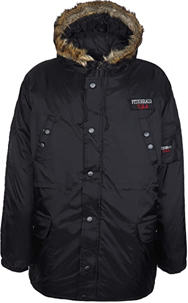 337063fcae1a DTriple D555 Men's Winter Padded Jacket Heavy Duty Multipockets Outerwear  Coat Big Sizes 4XL 5XL 6XL (UK-4XL EU-4XL US-3XL 81cm, Black):  Amazon.co.uk: ...