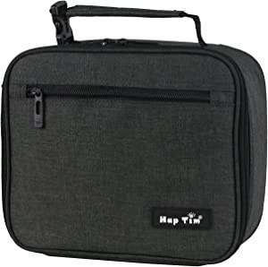 Insulated Lunch Boxes for Kids,Reusable Lunch Bags for Kids, Dark Gray Kids Lunch Boxes for Boys/Girls (N18654-DG)