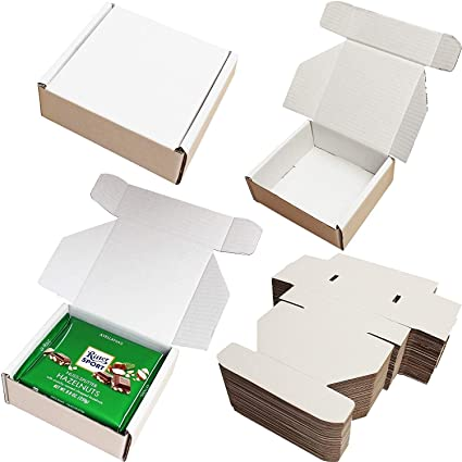 Cajas de cartón para envíos postales, 15 x 15 x 6,3 cm, color ...