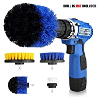 Deals on Drill Brush Set 4 Piece Power Scrubber Drill Brush Cleaning Kit