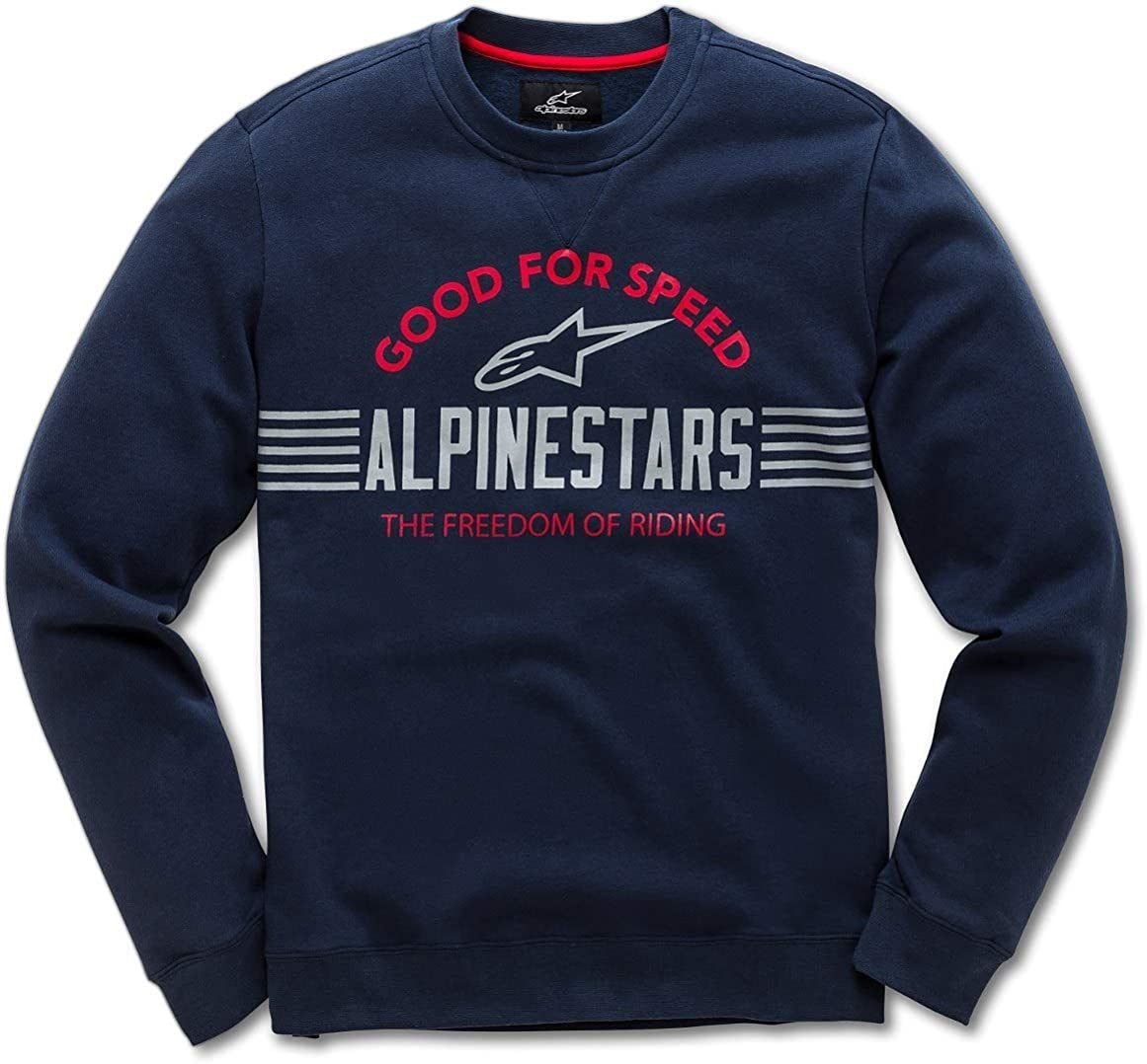 Alpinestars Racing Crew Neck Casual Fleece Mens Guys MX Pullover Sweatshirts
