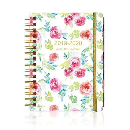 Tianuofa - Agenda de tapa dura, planificador personal 2019-2020 (Jan2019-Dec2019), planificador semanal/mensual/anual, para alcanzar tus objetivos y ...