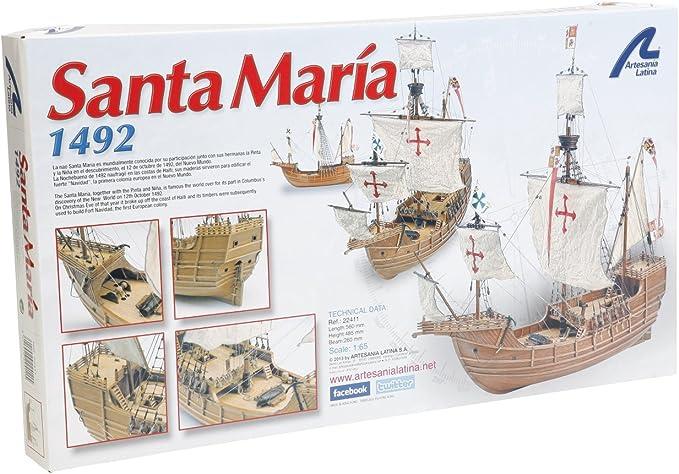 Artesanía Latina 22411 - Maqueta de barco en madera: Carabela Santa María 1/65: Amazon.es: Juguetes y juegos