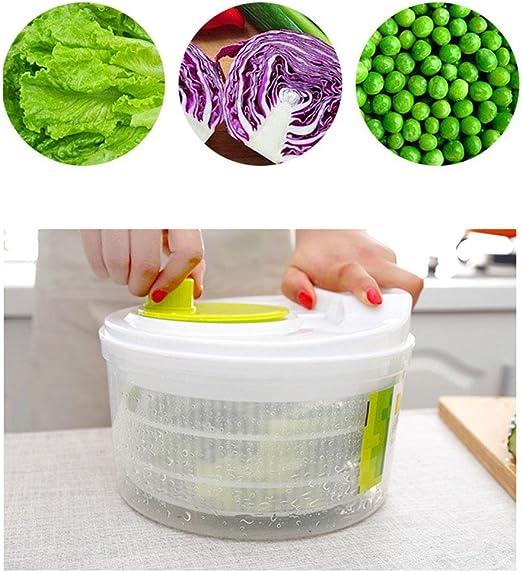 Compra Baiwka Spinner De Ensalada Manual Verduras de Gran ...