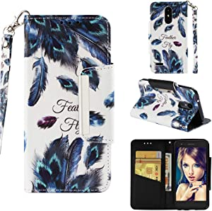 LG Aristo 3 Case,LG Aristo 2 Case,LG V3 Case,Heavy Duty Hybrid LG Fortune 2 Phone Case Wallet Cover for LG Tribute Dynasty/Empire/Zone Rebel Phoenix 4/Risio/LV3/K8 with Money Card Holder Stand Strap