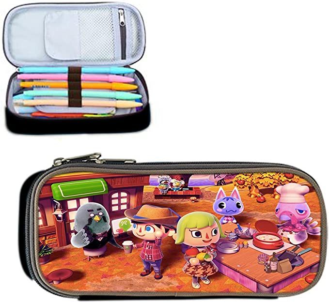 Animal Crossing New Leaf pluma cremallera bolsa/caja/bolsa de ...