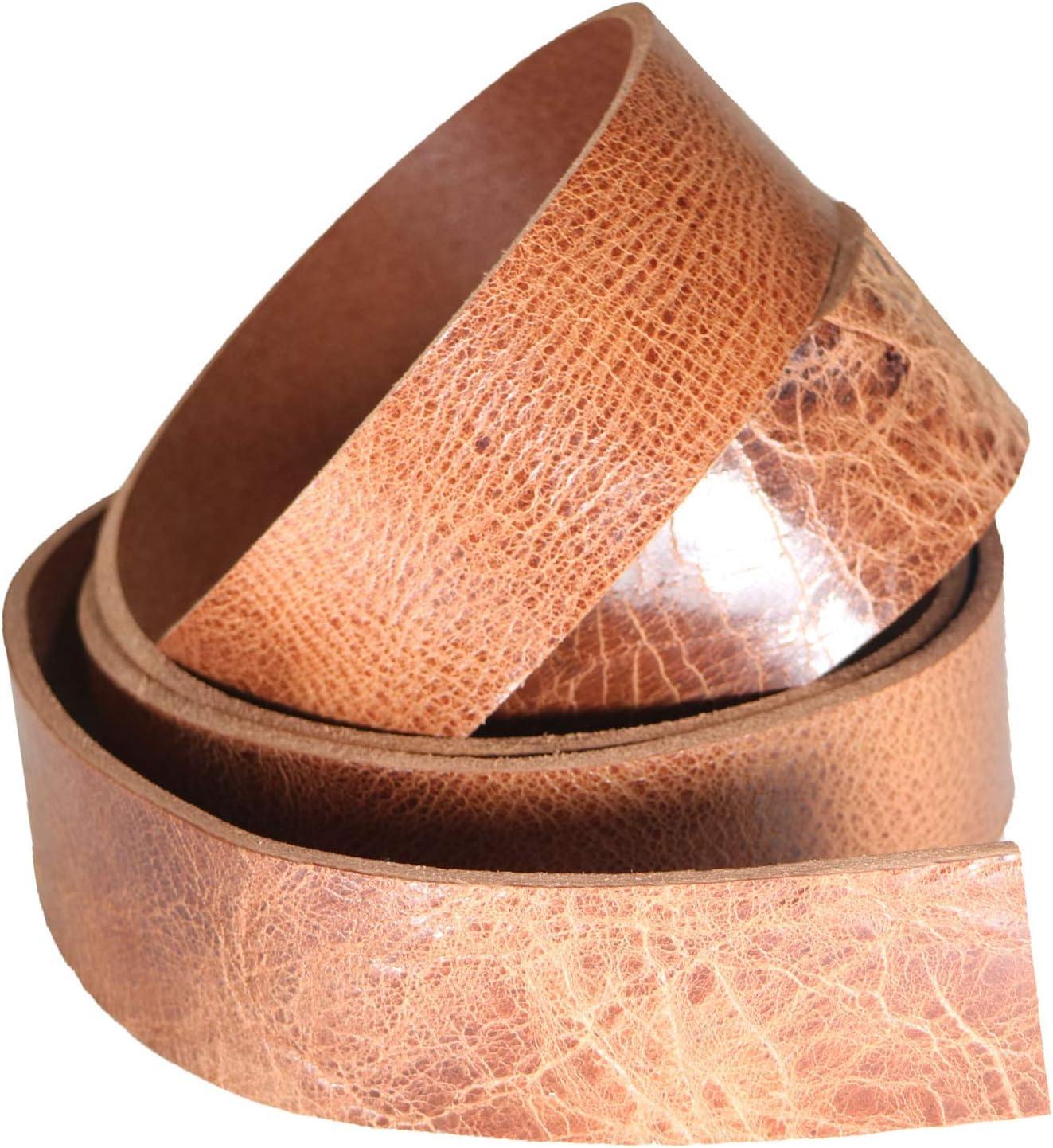 Correa de piel de búfalo esmaltada vintage, teñida con ...