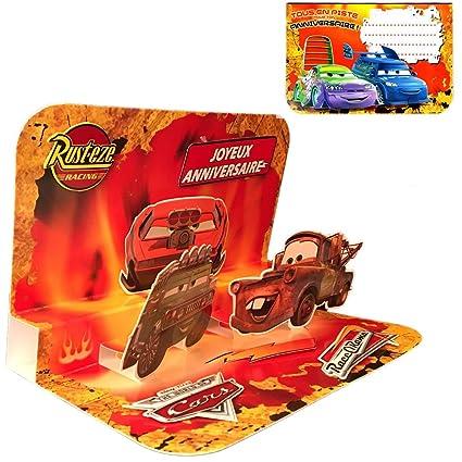 Tarjeta de cumpleaños, diseño 3D de Disney Cars: Amazon.es ...