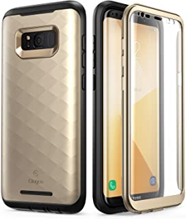 Galaxy S8+ Plus Case, Clayco [Hera Series] Full-body Rugged Case with Built-in Screen Protector for Samsung Galaxy S8+ Plus (2017 Release) (RoseGold)