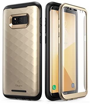 Carcasa Clayco [Hera Series] Para Galaxy S8+ Plus. Carcasa Resistente con Protector de Pantalla Integrado Para Samsung Galaxy S8+ Plus (Version 2017) (Oro): ...