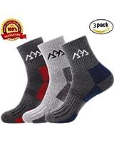 Set of 3 Men's Hiking Camping Trekking Socks,Quick Drying Full Thickness Micro Crew For Trekking Mountaineering By Vebox