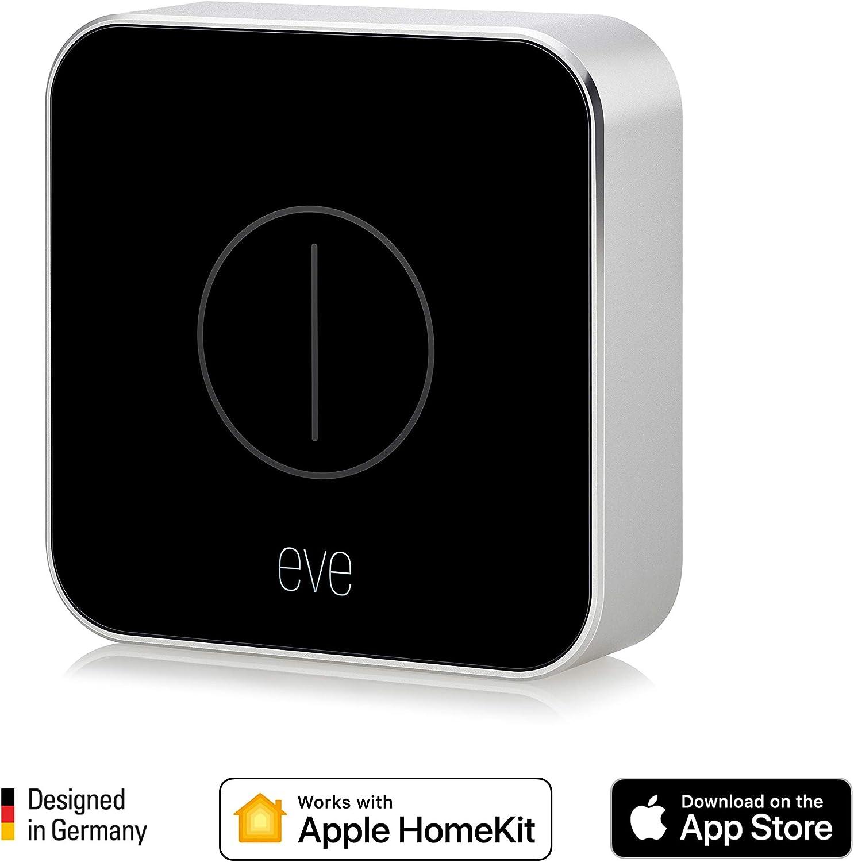 Eve Button - Mando para la casa conectada, con tecnología HomeKit de Apple, Bluetooth Low Energy, negro