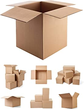 """100 x X-LARGE CARDBOARD REMOVAL MOVING BOXES CARTONS 24 x 18 x 18/"""" S//W **DEAL**"""