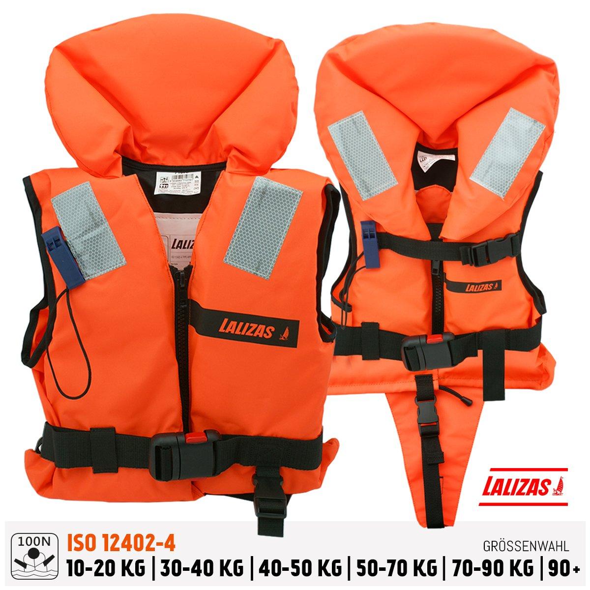 AWN Black Edition Veste de r/égate Gilet de flottable Aide /à flottabilit/é Kayak Sup Planche /à Voile 70-90 kg