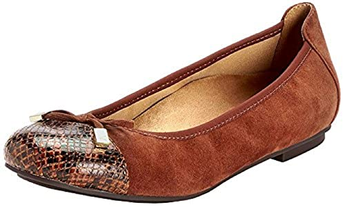 with Orthaheel Technology Womens Minna Ballet Flat,Light Tan,US 8.5 M Vionic