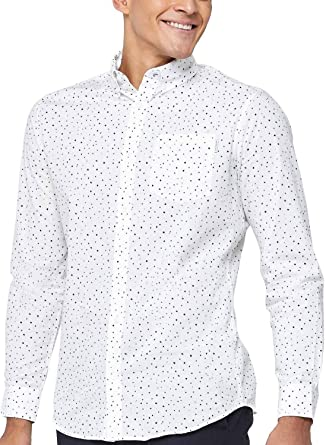 Camisa Jack and Jones Bruce Blanco Hombre: Amazon.es: Ropa y accesorios