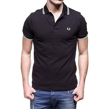 64e13617700 Fred Perry Polo Homme Noir Slim Fit (m)  Amazon.fr  Vêtements et ...