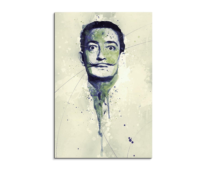 Salvador Dali Splash 90x60cm - Splash Art Paul Sinus Wandbild auf Leinwand Graffiti Street Art Aquarelle Kunst Leinwandbild Malerei