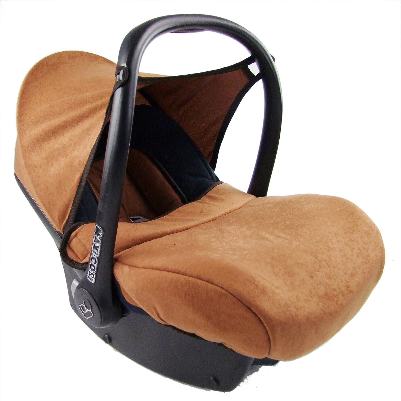 Bezug f/ür Babyschale BAMBINIWELT kompl Ersatzbezug f/ür Maxi-Cosi CabrioFix 7-tlg. Sommerbezug Cabrio Fix SCHWARZ//BRAUN