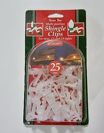 Amazon.com: Christmas Light Clips Shingle Light Clips Gutter Hooks ...