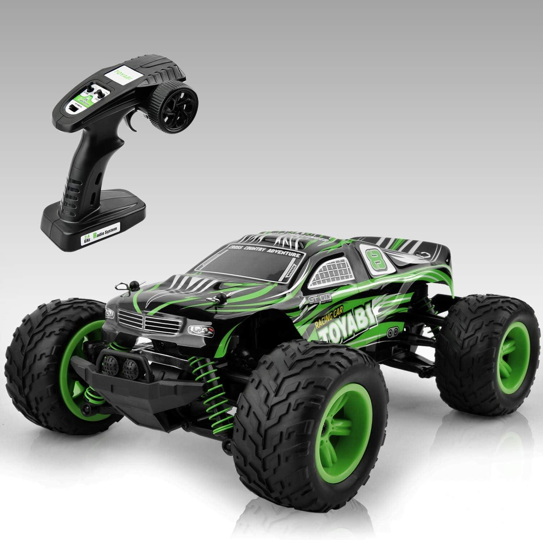 GizmoVine Coche Teledirigido, Coche RC de Alta Velocidad de 2.4 GHz, Camiones Todo Terreno 4x4, Camiones de Juguete Todo Terreno para Adultos Y NiñOs
