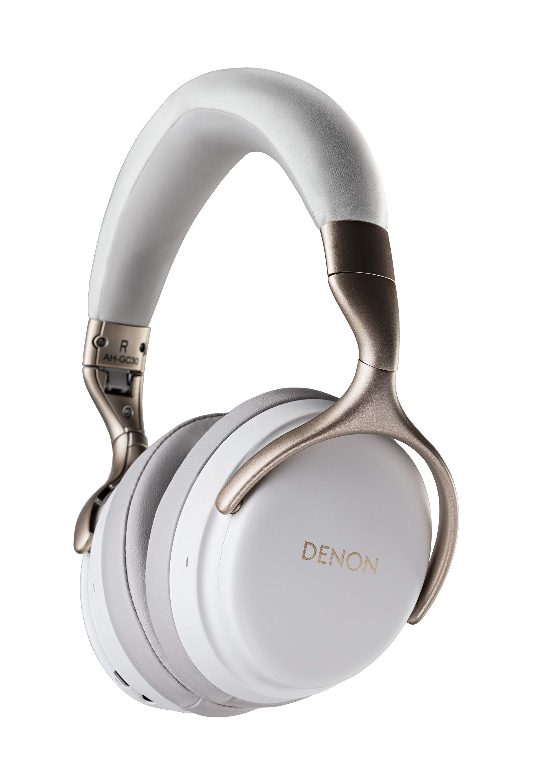 Denon AH-GC30 Premium Wireless Noise-Cancelling Headphones - Hi-Res Audio Quality | Up to 20 Hours of Extended Use | Designed for Comfort | Battery-Saving Auto-Standby Mode | White