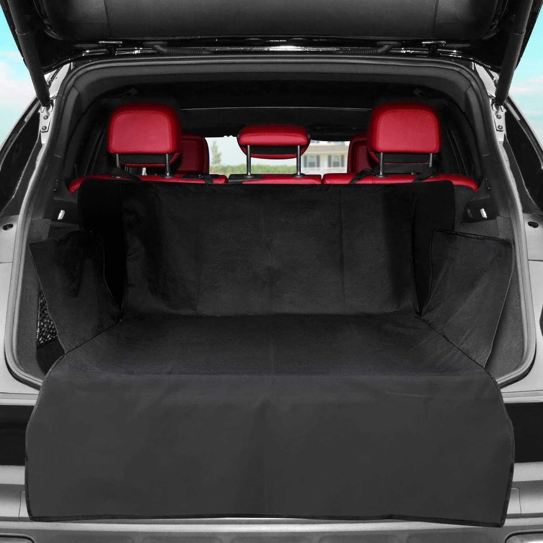 Kyg Kofferraumschutz Hunde Universal Kofferraummatte Mit Seitenschutz Wasserdicht Hundedecke Kofferraumschutzmatte Für Jedes Auto Kofferraum Mit Hochwertig Robustem Material 183 104 33 Haustier