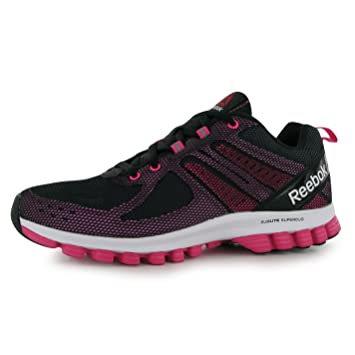 Reebok SubLite SuperDuo 2 Running Shoes Womens Black Pink Run Trainers  Sneakers (UK4) 13d3926f0