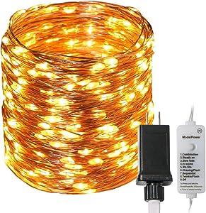 Koopower 300 LEDs Copper Wire Lights 31V Low Voltage Plug Indoor String Lights Fairy Lights(Waterproof, Bedroom, Garden, Easter, Christmas Decoration)