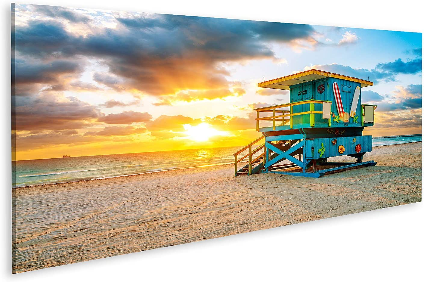 Bild auf Leinwand Miami South Beach Sonnenaufgang Bilder Wandbild Poster Leinwandbild
