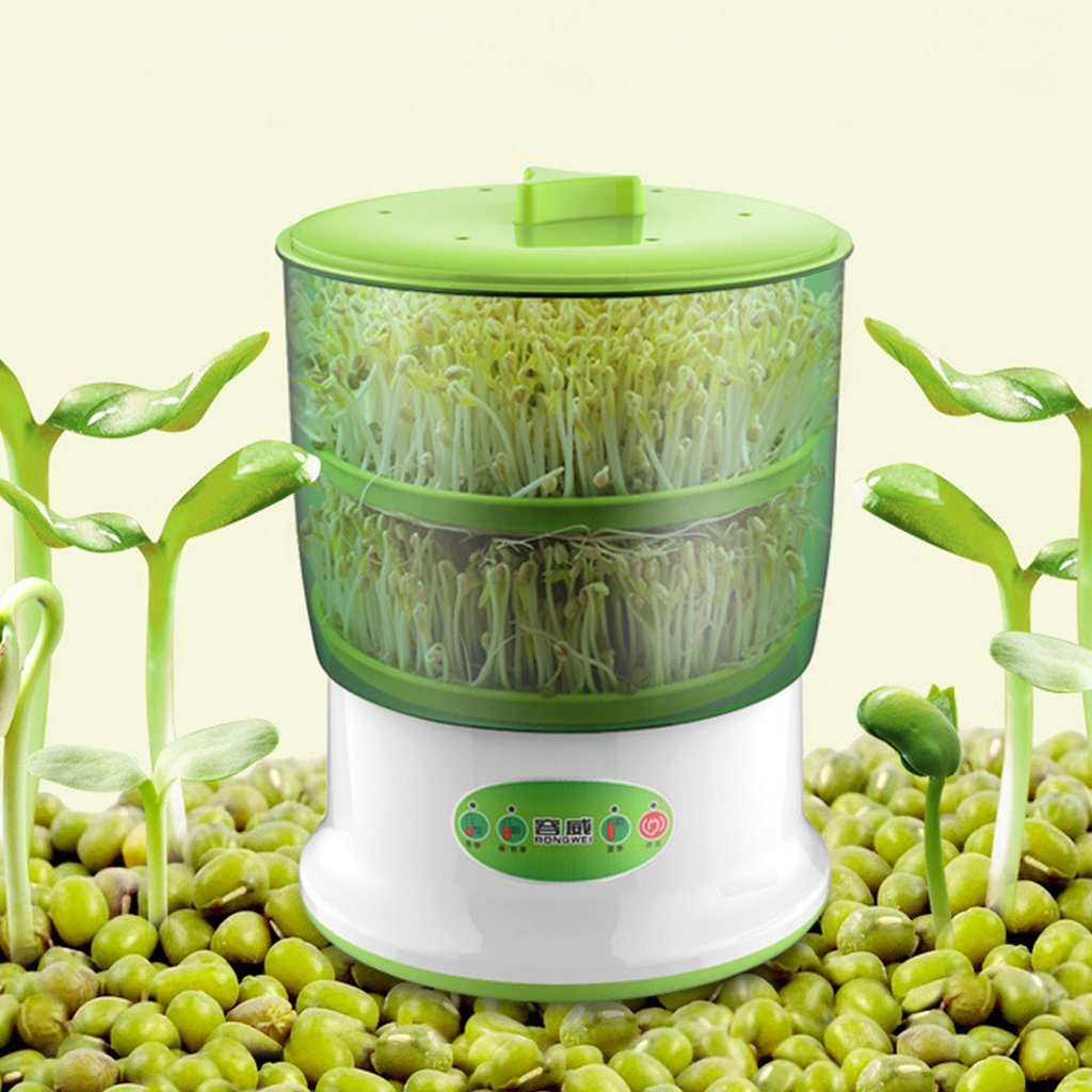 Kofun Auto Household 2 Layers Bean Seed Cereal Sprouts Machine Large Capacity 220V