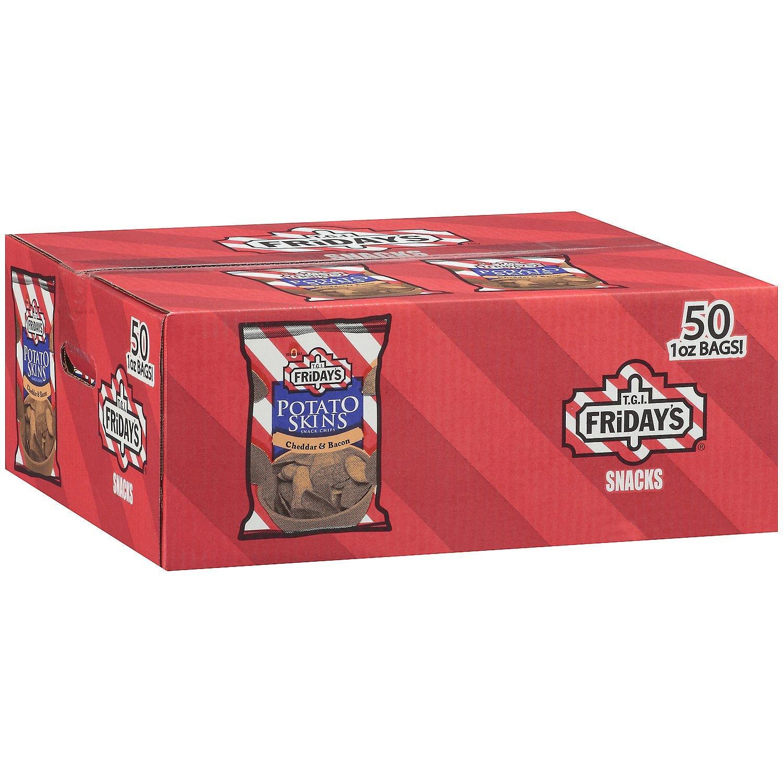 T.G.I. Friday's Potato Skins Snack Chips, Cheddar & Bacon (1 oz, 50 ct.)
