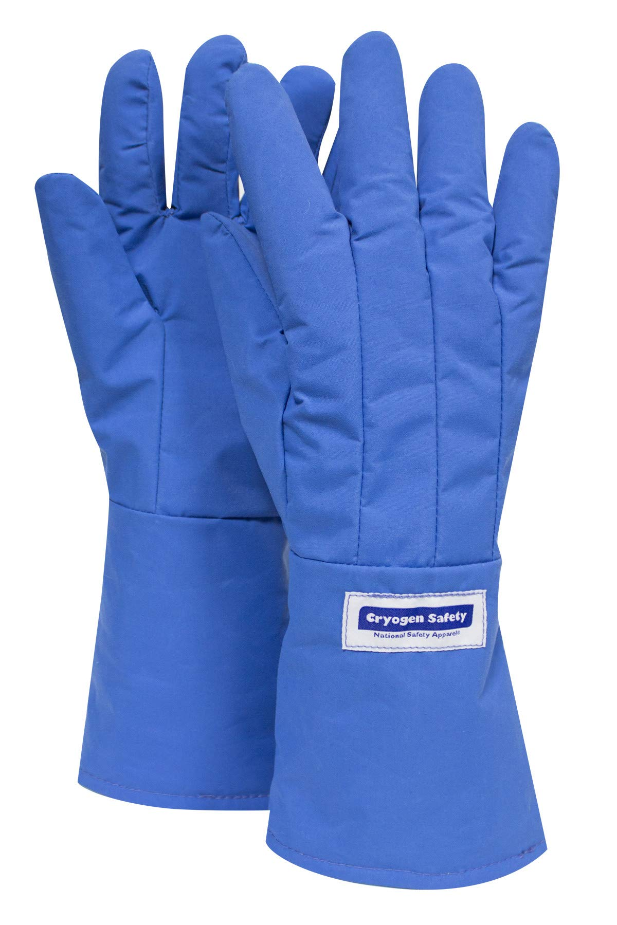 National Safety Apparel G99CRBEPLGMA Nylon Taslan and PTFE Mid-Arm Waterproof Safety Glove, Cryogenic, 14'' - 15'' Length, Large, Blue