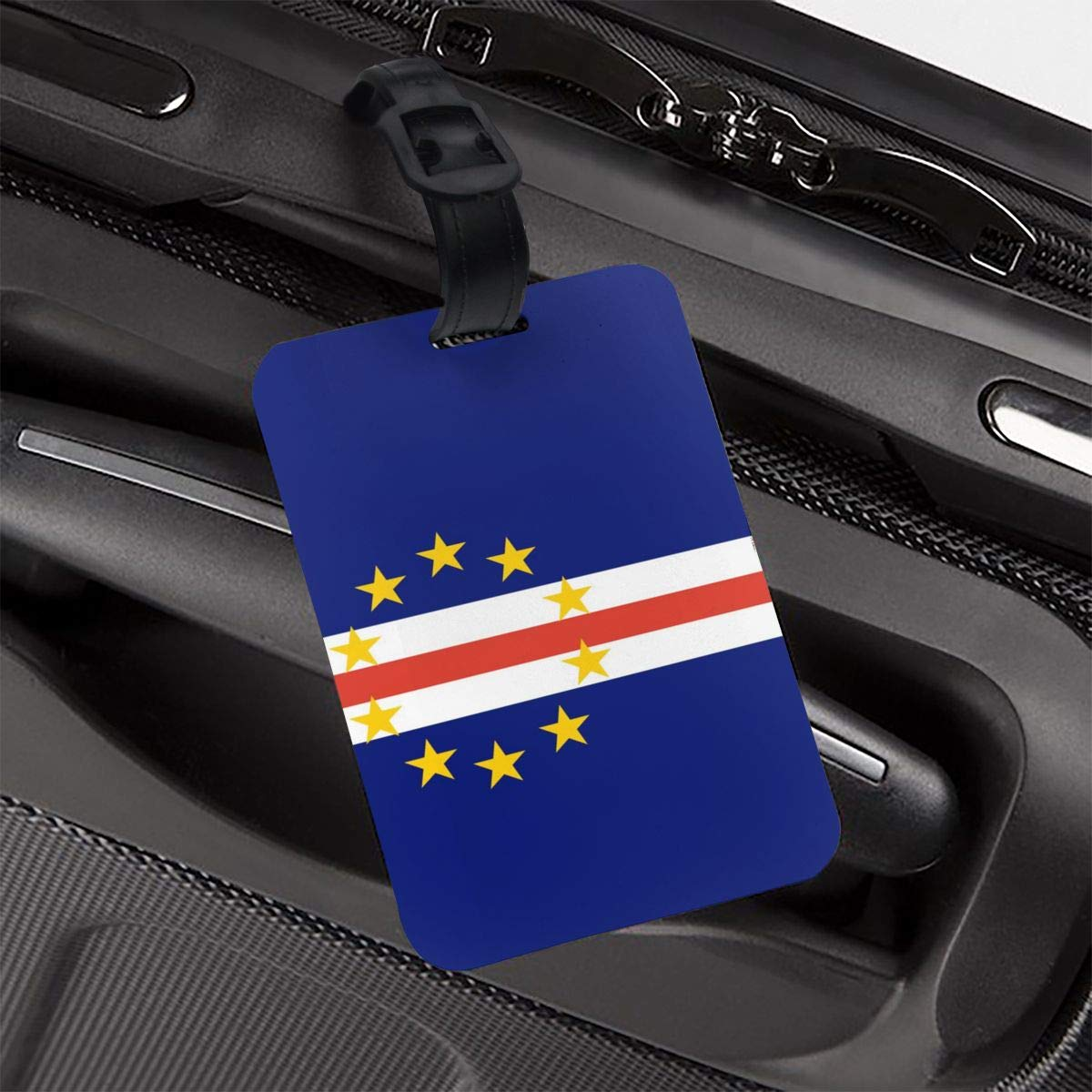 NB UUD Cape Verde Flag Travel Luggage Tag Printed Employees Card Luggage Tag Holders Travel ID Identification Labels for Baggage Suitcases Bags