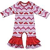 4224678b79e6 Amazon.com  Baby Girls Easter Romper Toddler Little Bunny Eggs ...