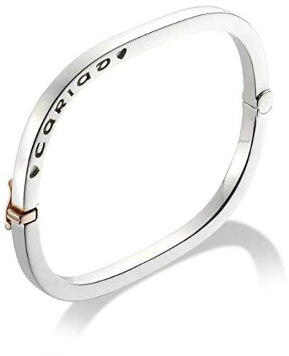 Clogau Womens Ladies Clogau Silver And 9ct Rose Gold Cariad Expanding Bracelet Ogz50