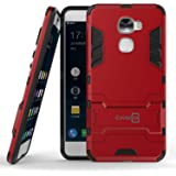 LeEco Le Pro 3 Case, CoverON® [Shadow Armor Series] Hard Slim Hybrid Kickstand Phone Cover Case for LeEco Le Pro 3 - Red